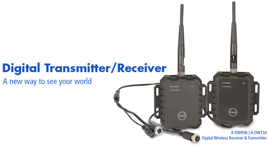 A-DWR96 and A-DWT34 Digital Transmitter and Receiver